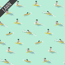 Tiny Surfers Lawn in Sea Foam