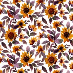 Sunset Sunflowers in Autumnal