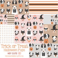 Trick or Treat Halloween Pups Fat Quarter Bundle