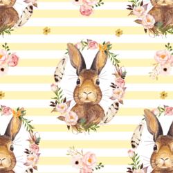 Bunny Love on Stripes in Lemon Chiffon