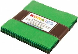 Kona Cotton Solids Charm Squares in Wondrous Woods