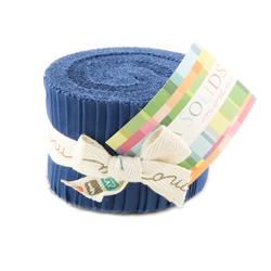 Bella Solids Junior Jelly Roll in Blue