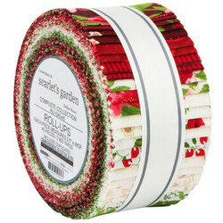 """Flowerhouse Scarlet's Garden 2.5"""" Strip Roll"""