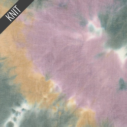 Sunset Tie Dye in Lavender Beige & Charcoal