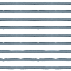 Large Wanderlust Stripe in Indigo