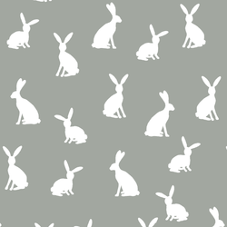 Cottontail Silhouette in Sage