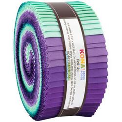 "Kona Solid 2.5"" Strip Roll in Aurora"