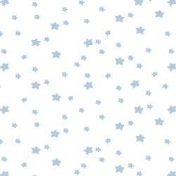 Star Light in Sky on White