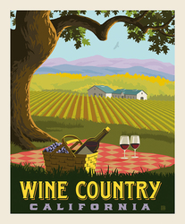 Poster Panel in Wine Country