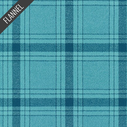 Mammoth Modern Tartan Plaid Flannel in Waterfall