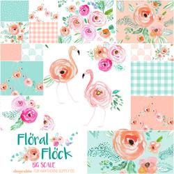 Floral Flock Fat Quarter Bundle Big Scale