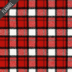 Mammoth Junior Modern Check Plaid Flannel in Cardinal
