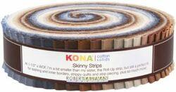 """Kona Solid 1.5"""" Strip Roll in Neutral"""
