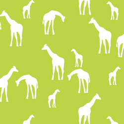 Giraffe Silhouette in Lime