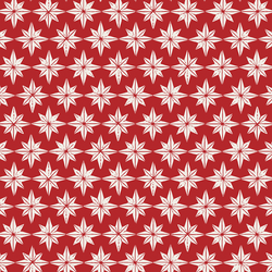 Stars in Cream on Christmas Red