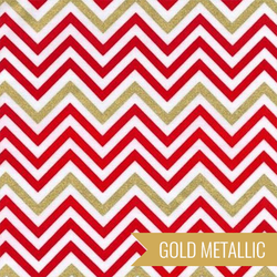 Zig Zag Stripe in Flame Metallic