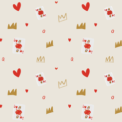 Queen of Hearts in Ivory