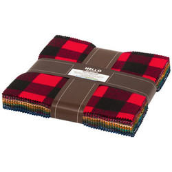Mammoth Flannel Ten Squares Bundle in Rainbow