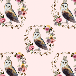 Cambridge Owl in Soft Blush