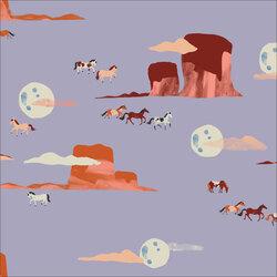 Moonlit Mustangs in Purple Haze