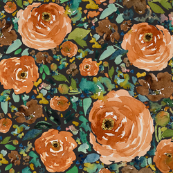 Copper Roses in Autumn Brown