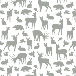 Forest Friends in Sage on White