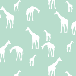 Giraffe Silhouette in Mint