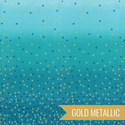 Ombre Confetti Metallic in Turquoise