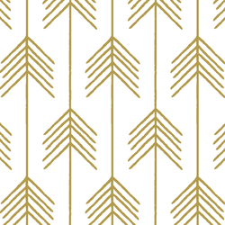 Vanes in Gold on White