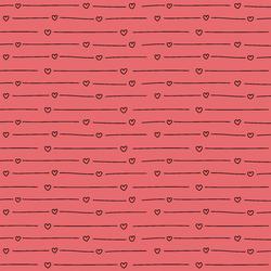 Vintage Heart Stripe in Rouge