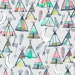 Teepees in Dove