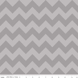 Medium Chevron Tone on Tone in Gray