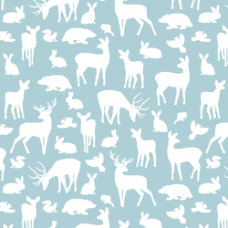 Forest Friends in Powder Blue