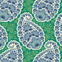 Large Paisley in Fresh Green