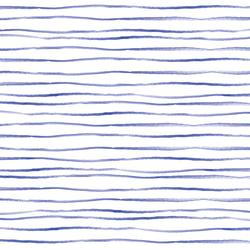 Sussex Stripe in Lapis Blue on White
