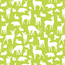 Forest Friends in Lime