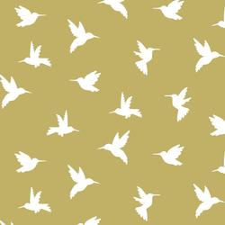 Hummingbird Silhouette in Brass
