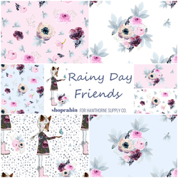 Rainy Day Friends Fat Quarter Bundle Big Scale