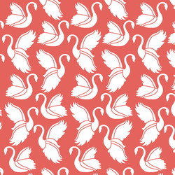 Swan Silhouette in Salmon