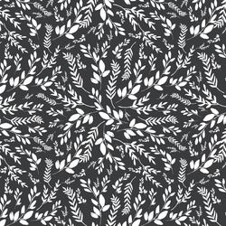 Small Wild Foliage in Dark Grey