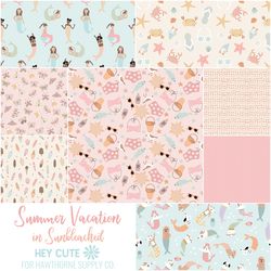 Summer Vacation Fat Quarter Bundle in Sunbleached