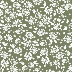 Daisies in Olive