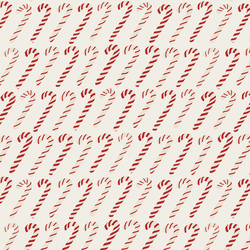 Merry Candy Canes in Christmas Red