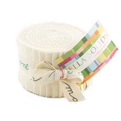 Bella Solids Junior Jelly Roll in Ivory