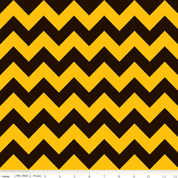 Medium Chevron in Black and Gold