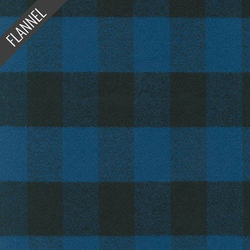 Mammoth Buffalo Check Flannel in Blue