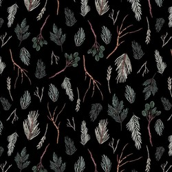 Twigs in Black Multi