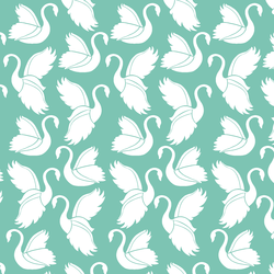 Swan Silhouette in Succulent