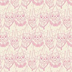 Pug Ville in Rose