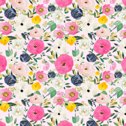 Small Free Falling Florals in Primrose